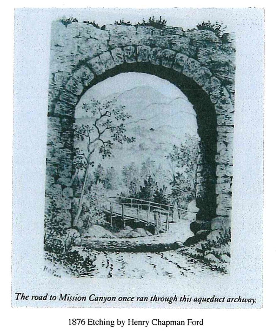 Gateway into Mission Canyon circa 1876