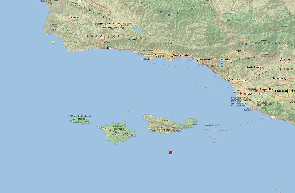 53Magnitude Earthquake Reported Near Santa Cruz Island