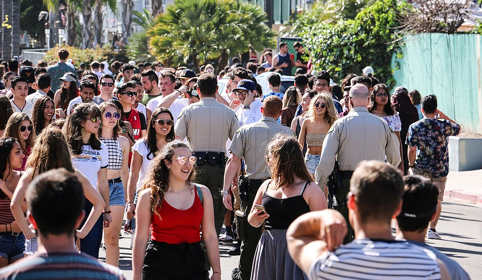 Foot Patrol officers patrol Deltopia 2018