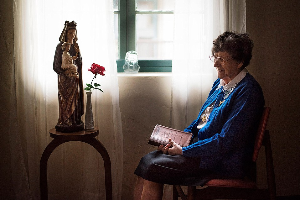 """Sister Pauline Krismanich joined the Immaculate Heart nuns at La Casa de Maria in the early 1970s. She remembers being """"attracted to their joy."""""""
