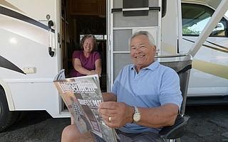 Frank Holguin (right) and his wife, Nona Holguin