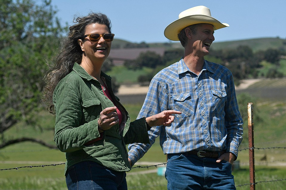 A new type of pasture management is taking place at the Ted Chamberlin Ranch in Los Olivos, where third-generation ranch managers Russell Chamberlin and his cousin Mary Heyden are using compost to enrich the soil, produce increased forage, hold more water in the land, and also sequester more carbon underground.