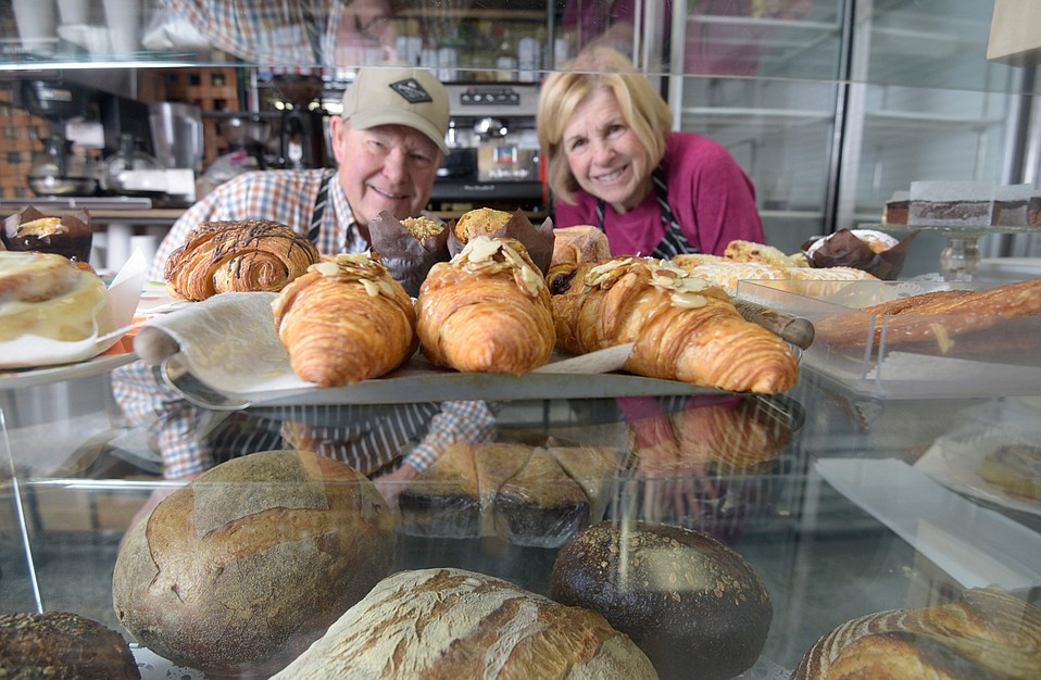 Maurice and Wendy Fleming make Deux Bakery goods on Reddick Street and sell them downtown.
