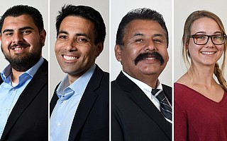 From left to right: Oscar Gutierrez, Michael Vidal, Ken Rivas, and Elizabeth Hunter