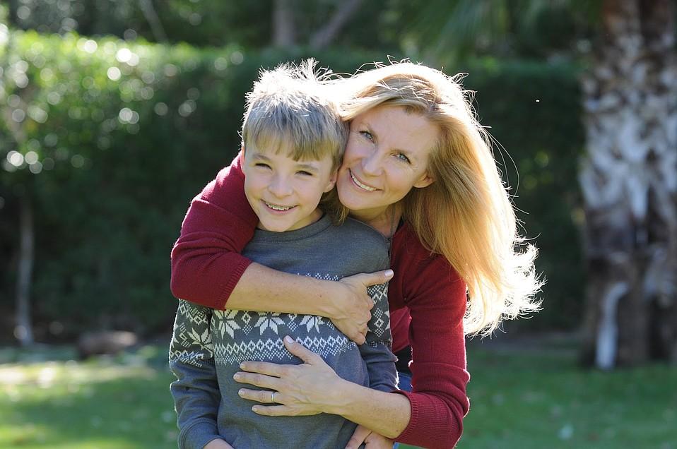 Kirsten Stuart and her son, Niko.