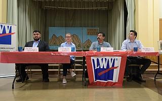 From left to right: Oscar Gutierrez, Elizabeth Hunter, Ken Rivas, and Michael Vidal
