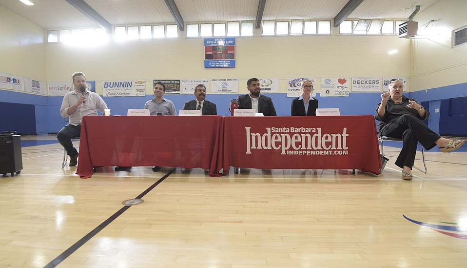 Candidates for Santa Barbara City Council's District Three take part in a forum held at the at the Westside United Boys and Girls Club and sponsored by the Santa Barbara Independent.