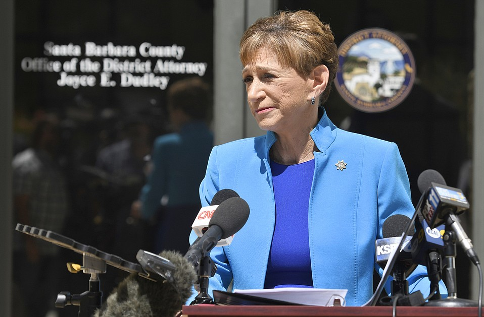Santa Barbara County District Attorney Joyce Dudley announces at a press conference that she will file four counts of first degree murder against against Joseph DeAngelo.