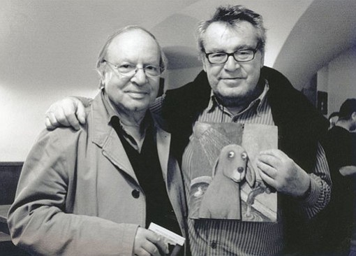 Film director Miloš Forman, here with Ivan Passer, died on April 13, 2018, after a storied career.