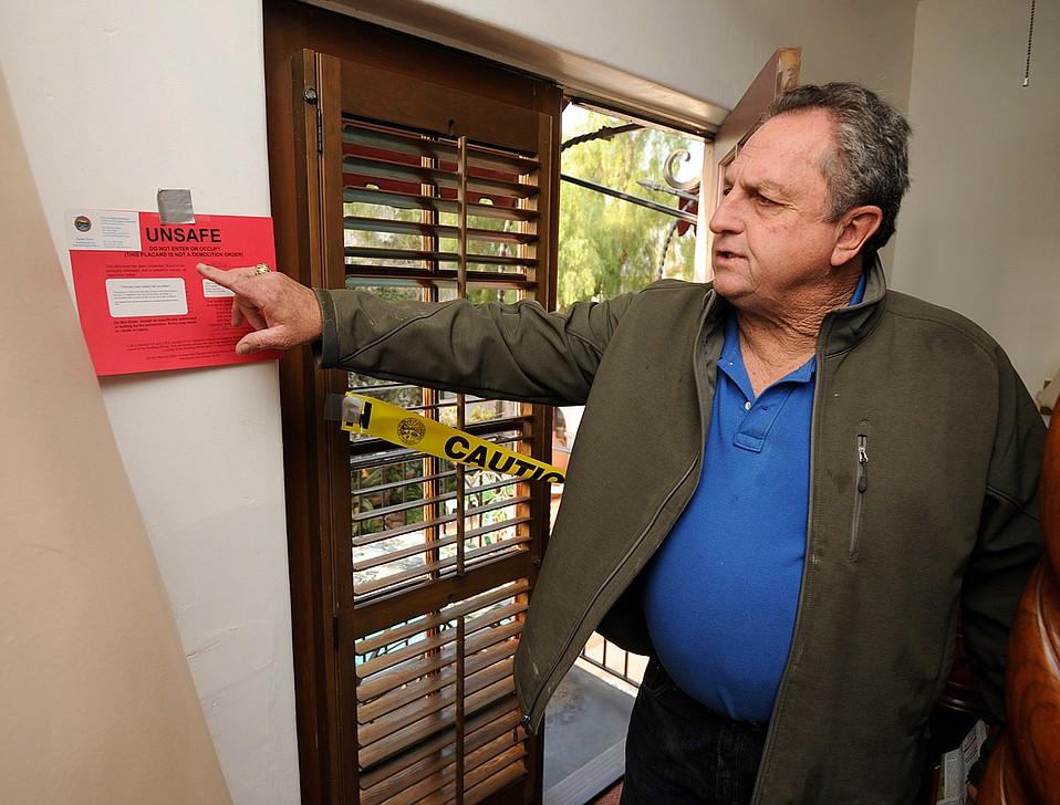 Dario Pini in a red-tagged unit at Villa Rosa Inn in 2016