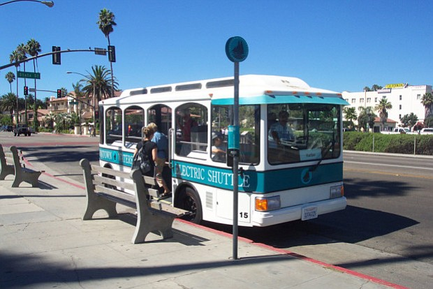 An old downtown Waterfront Shuttle