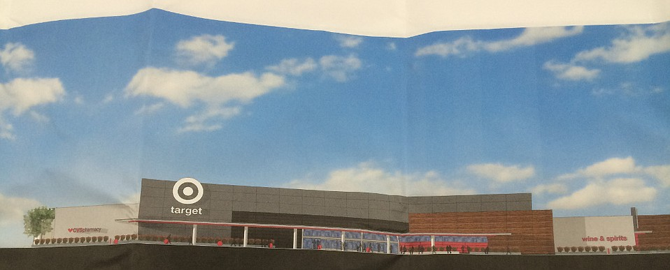 Preliminary plans for the store façade at Kmart in Goleta leave little doubt the prospective tenant is Target.