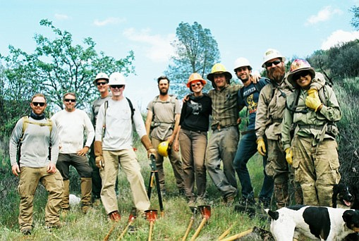The author joined this group of hearty volunteers to work trails in Los Padres National Forest.