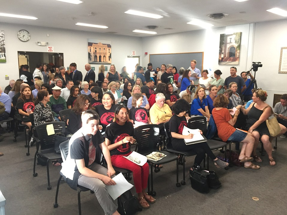 The board room filled with advocates for physical education, music programs, and Ethnic Studies at Tuesday night's Santa Barbara Unified School District meeting.
