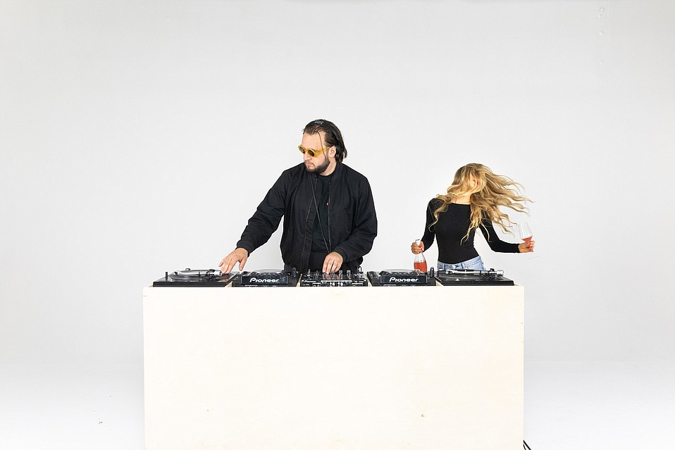 Cofounders Andrew Elia (aka DJ Persian House Cat) and Kayla Picciuto