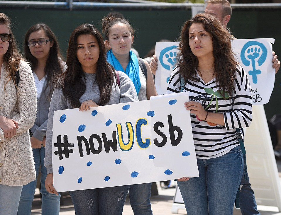 Students gathered in 2015 to prompt changes in UC policy on sexual assault.