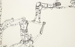 """Mustafa Acrobate"" by Huguette Caland"