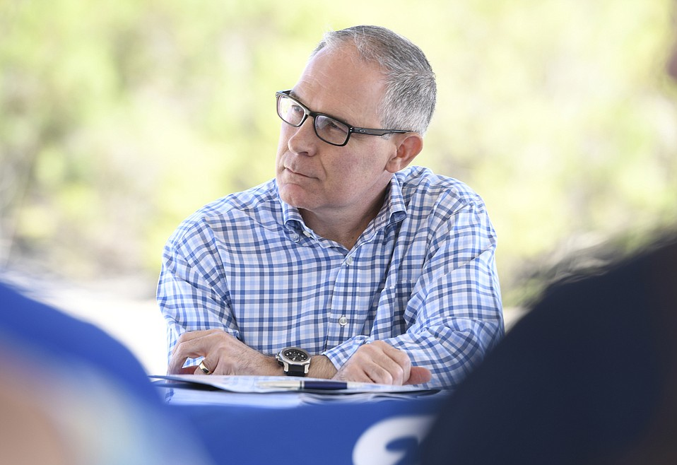 U.S. Environmental Protection Agency (EPA) Administrator Scott Pruitt (pictured) visited Casmalia Resources Superfund Site with EPA Pacific Southwest Regional Administrator Mike Stoker to announce a final cleanup plan for contaminated soil and groundwater estimated to take five years and cost approximately $60 million. (June 28, 2018).