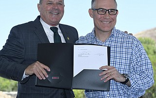 U.S. Environmental Protection Agency (EPA) Administrator Scott Pruitt (right) visited Casmalia Resources Superfund Site with EPA Pacific Southwest Regional Administrator Mike Stoker to announce a final cleanup plan for contaminated soil and groundwater estimated to take five years and cost approximately $60 million. (June 28, 2018).