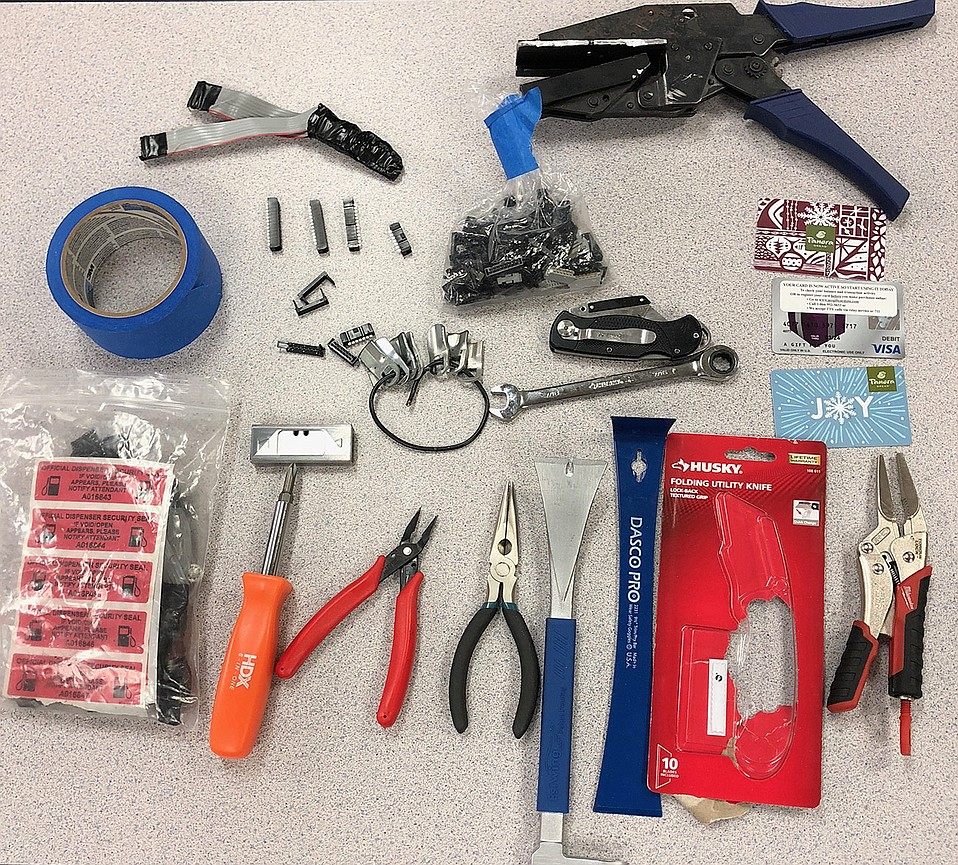 Credit-card skimming tools found after a citizen-reported sighting at Valero gas station in Goleta.