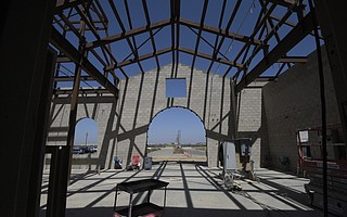 The lobby of the Santa Barbara North County Jail currently under construction