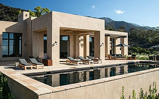When he's not designing custom homes, such as this Montecito modern, architect Tom Meaney enjoys the beauty of fine art.