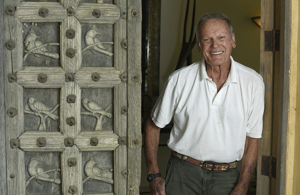 Tab Hunter at his home in 2015