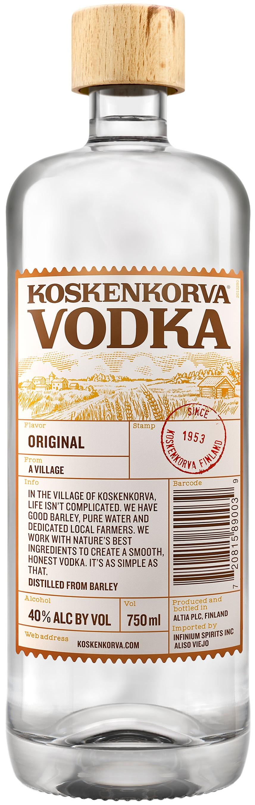 Koskenkorva Vodka, founded in 1953.