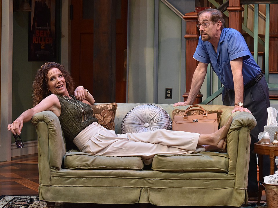 Polly Firestone Walker as Masha and Peter S. Hadres as Vanya