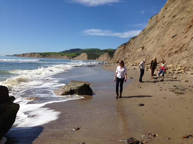 The beach at Cuarta Canyon
