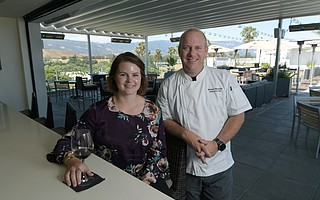 Manager Kacey House and Chef Michael Blackwell combine creative dishes and great drinks on a hotel roof in Goleta