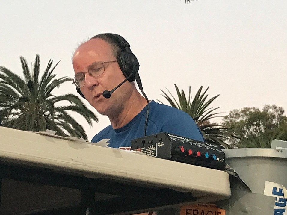John Martony does radio play-by-play of the Foresters' home games from a platform at Pershing Park, and starting Friday, August 3, he will be broadcasting their action from the National Baseball Congress World Series in Wichita.