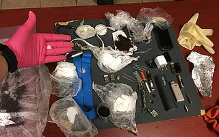 Contraband recovered from Sulit-Swalley