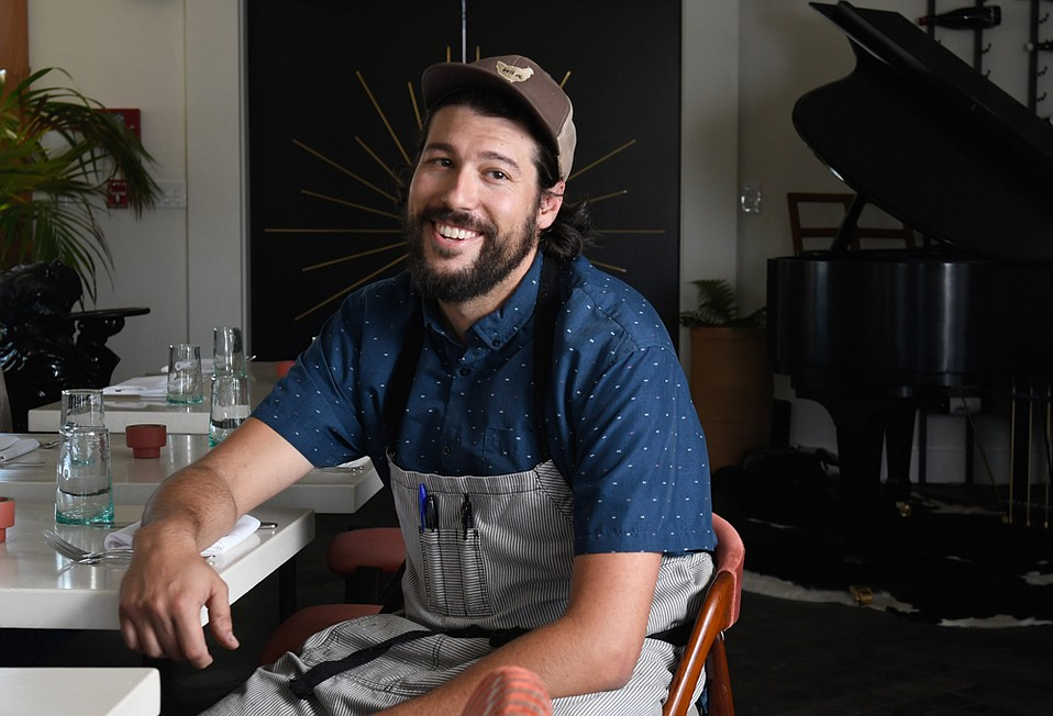 After five years at Full of Life Flatbread, Chef Will Hanko is leading his own kitchen at Norman in Hotel Skyview on the prominent hill above Los Alamos.