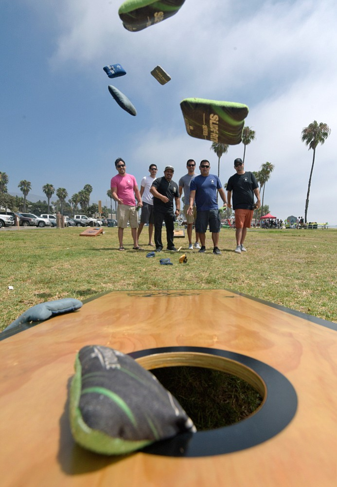 Santa Barbara Cornhole players gathered for a day of fun at Leadbetter Beach last weekend.