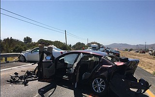 The 101 closed in Gaviota Wednesday afternoon while a three-car collision was cleared.