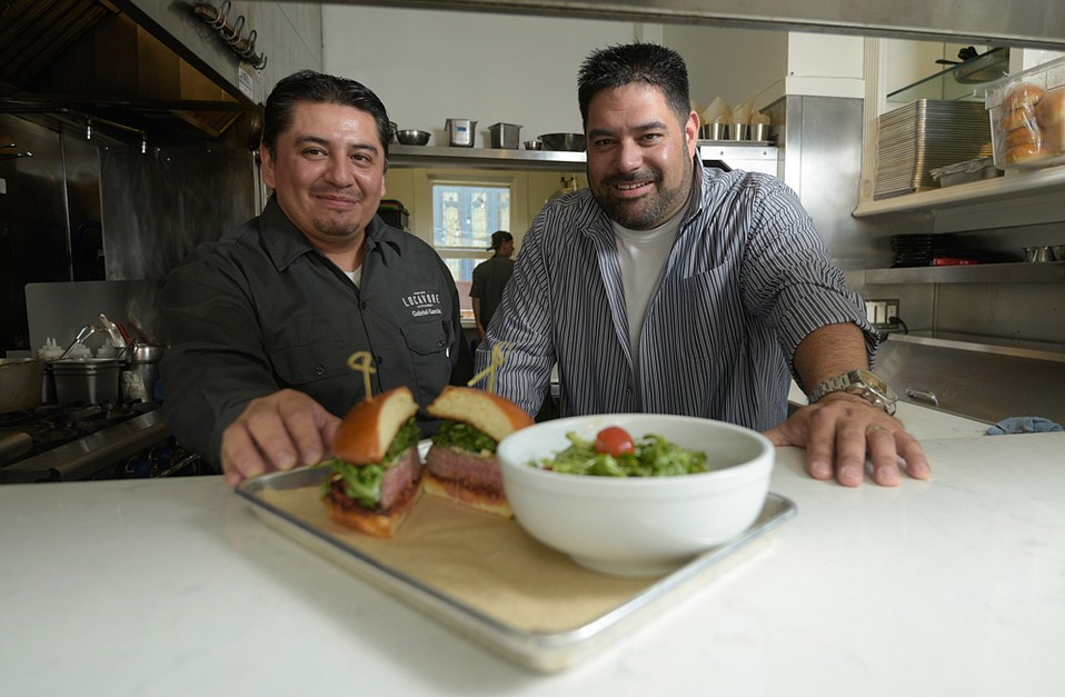 Locavore sous chef Gabriel Garcia (left) with owner and executive chef Andrew Crawley