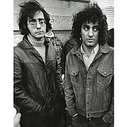 The author (left) with Youth International Party co-founder Abbie Hoffman