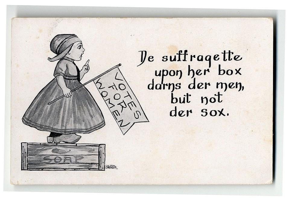 """""""De Suffragette"""" Postcard"""