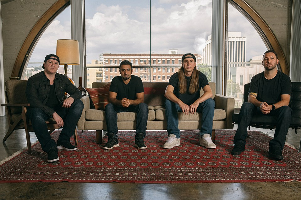 Reggae-rock band Rebelution formed nearly 15 years ago in Isla Vista. On September 9, the homegrown group will headline the Bowl. Pictured: Marley D. Williams (left), Eric Rachmany, Rory Carey, and Wesley Finley.