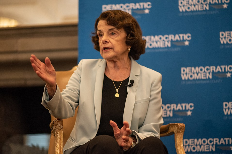 Senator Dianne Feinstein landed in Santa Barbara on Sunday to talk with Democratic Women of Santa Barbara County about Brett Kavanaugh's Supreme Court nomination and other topics.