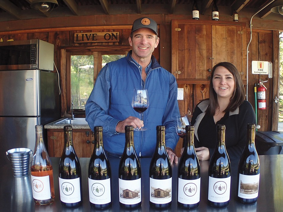 Folded Hills founder Andy Busch (left) and General Manager Tymari LoRe are excited that the young estate's wines are already tasting so good.