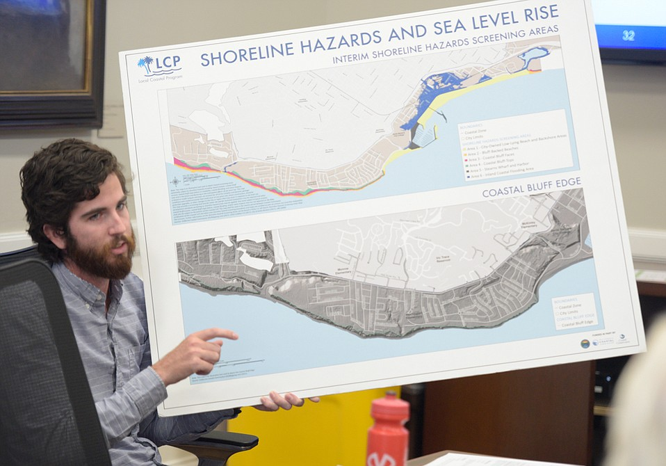 At most obvious risk is the stretch of waterfront along Cabrillo Boulevard, as well as the bluffs along the Mesa and Hope Ranch.