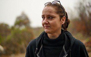 Kayla Younger lived along the Lompoc riverbed with her partner and her dog, Diesel.