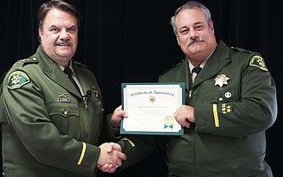 Sheriff Bill Brown (left) and new Undersheriff Sol Linver