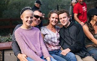 Cameron Benson and his family