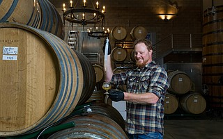 Jim Crooks is the master blender of Firestone Walker's Barrelworks facility in Buellton, where they often add wine grapes to beer. He's invited Garage Project and six other breweries to participate in the Terroir Project, which will be unveiled on September 29.
