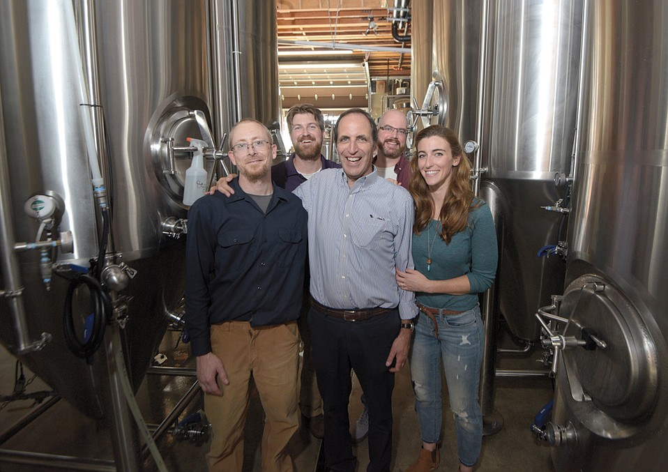 The team at Night Lizard Brewing Company (from left, Clay Brackley, Chip Nasser, John Nasser,