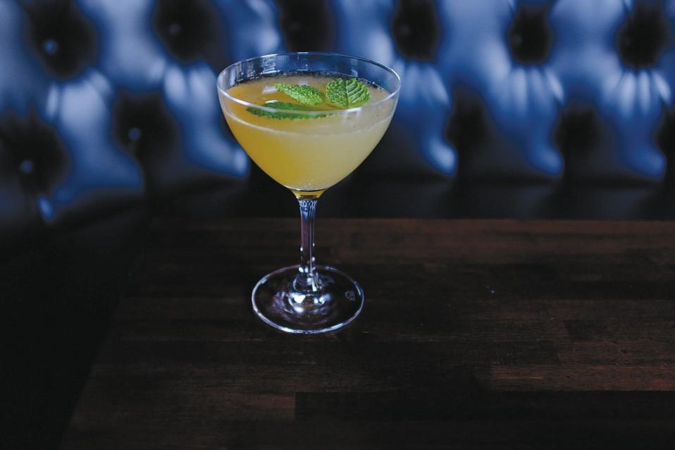 The Air Mail Cocktail at Chaplin's Martini Bar