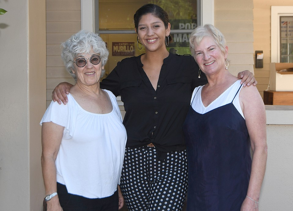 Dr. Pamela Reeves, Noely Mendoza, and Margaret Lazarus are part of a few dozen Santa Barbarians dubbed the Blue Wave that will travel by bus to Nevada to help Jacky Rosen's (D) Senate race against incumbent Dean Heller (R). A few seats are still available.